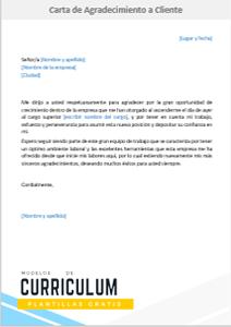 Modelo Carta De Agradecimiento A Cliente Formato Word